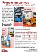 Prensas mecánicas ¿Reconstruir o reciclar?
