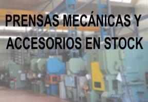 Prensas y accesorios para entrega inmediata